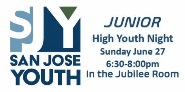 Junior High youth night tonight – 6:30-8:00 PM in the Jubilee Room.
