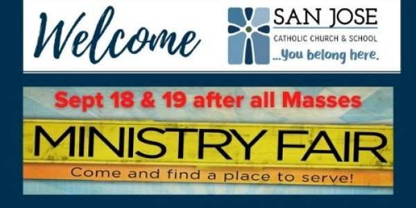 Ministry Fair – September 18 & 19